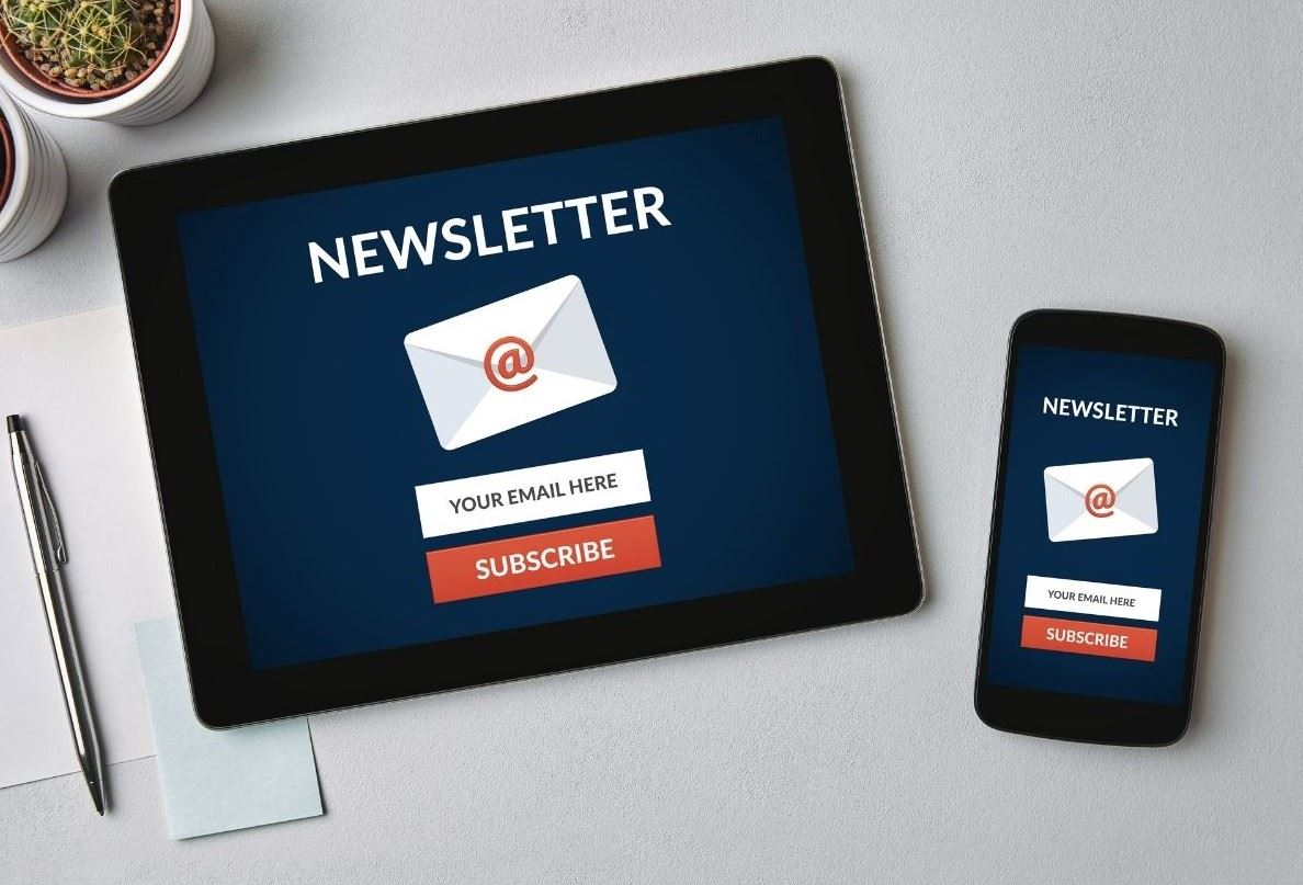 Sign up for a newsletter on computer and mobile phone
